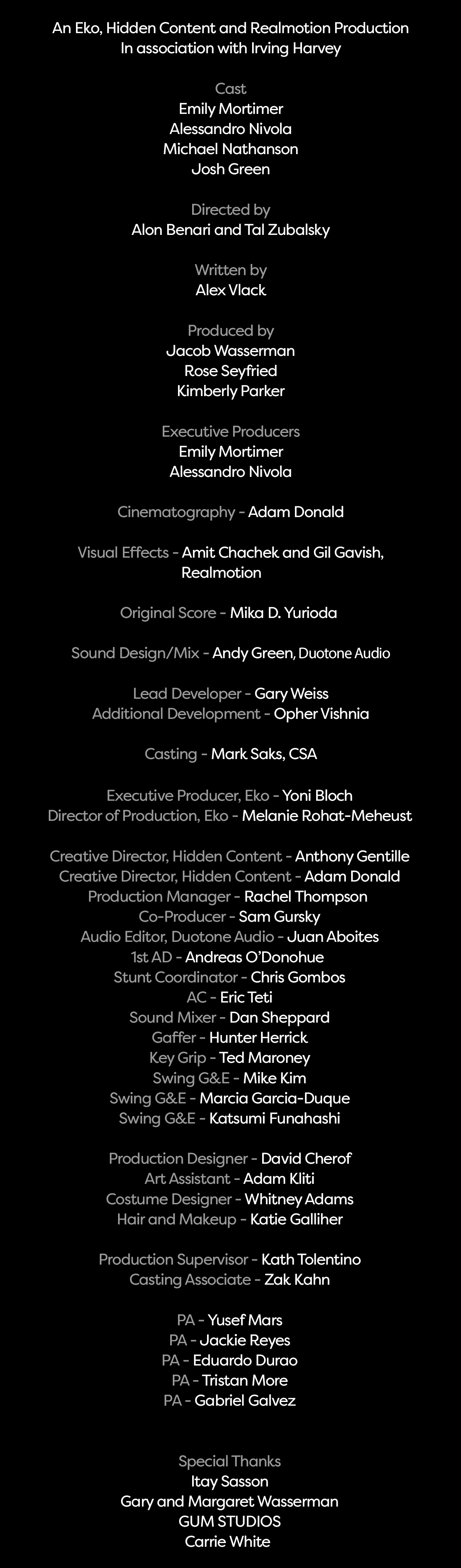 broken night vr credits